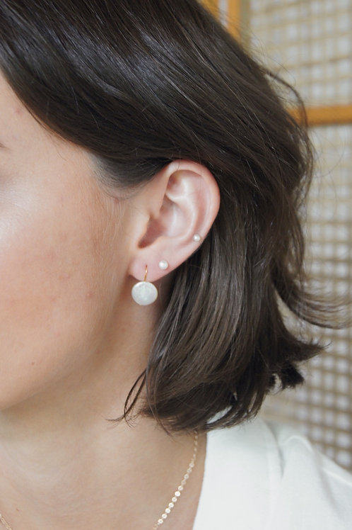 Shae Pearl Earring - Gold/Silver