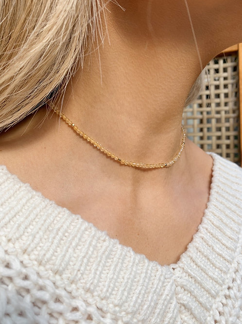 Aster Necklace-Citrine