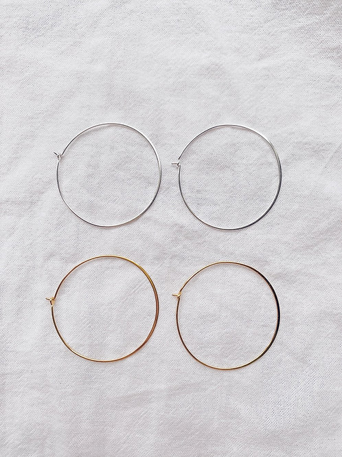 Lucy Hoops - Gold/Silver