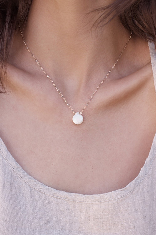 Shae Pearl Necklace - Silver/Gold