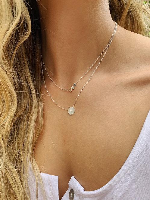 Vera Layered Necklace - Silver
