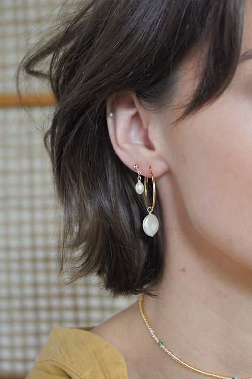 Shae Earring - Gold Medium Hoop