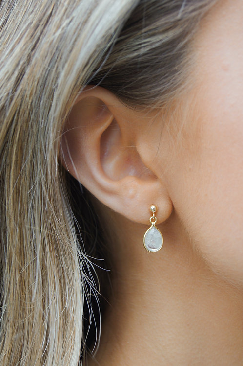 Skye Stud Earring - Moonstone
