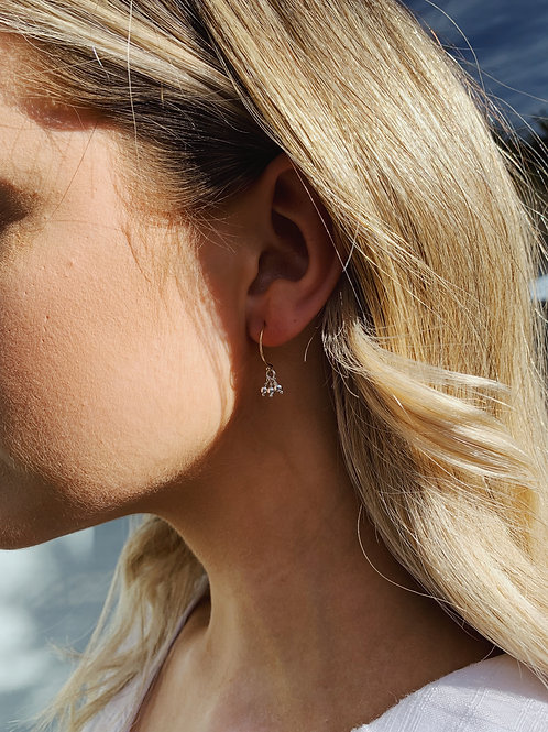 Ava Earring - Silver/Gold