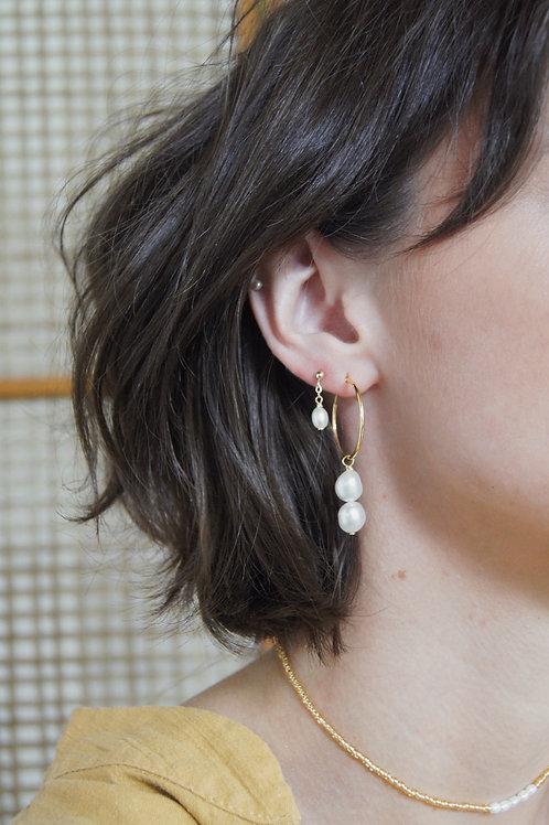 Brianna Earring - Medium Hoop
