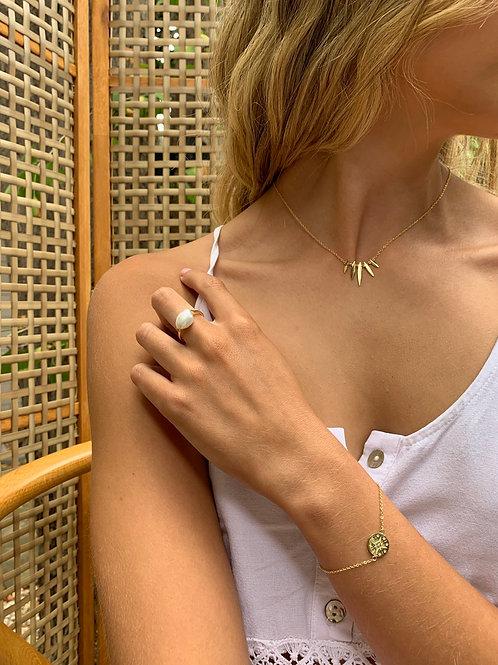 Esme Pearl Ring - Gold