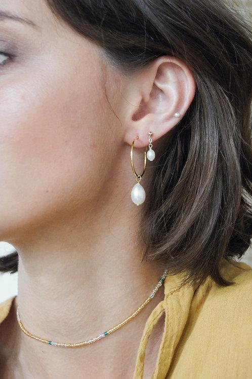 Bree Hoop Earrings - Gold/Silver