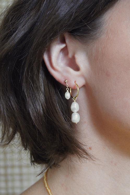 Brianna Earring - Small Hoop