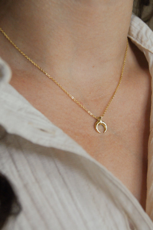 Lara Crescent Moon Necklace