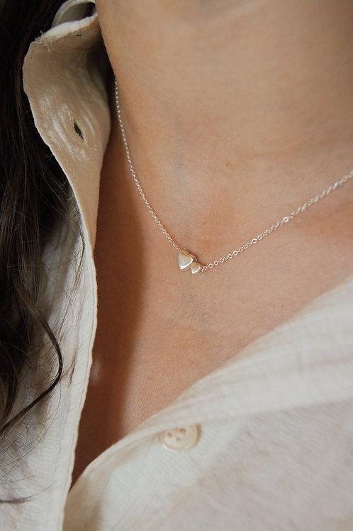 Lara twin heart necklace