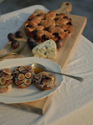 Fig + Provolone Toasts
