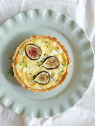 Fig + Goats Cheese Tart