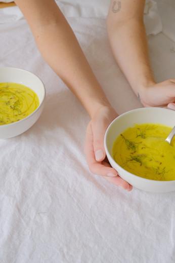 Turmeric, Leek + Apple Soup