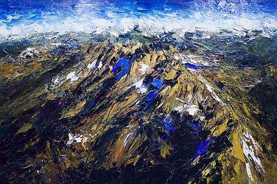 The Olivine Range #2, oil on canvas, 122