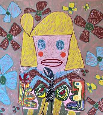 Adam Handler_Muscoot Farm Girl_64x60in_o