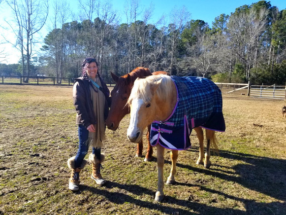 West Prong Acres Amy with horses.jpg