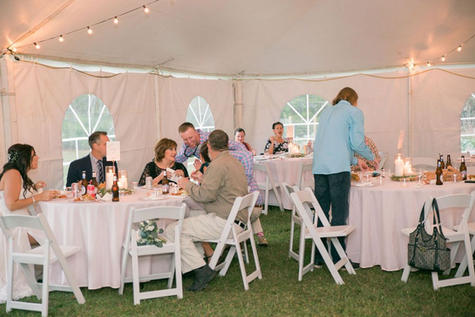 West Prong Acres Wedding Venue Wedding Reception Guests Dinning