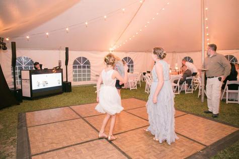 Dance Floor Inside Reception Tent