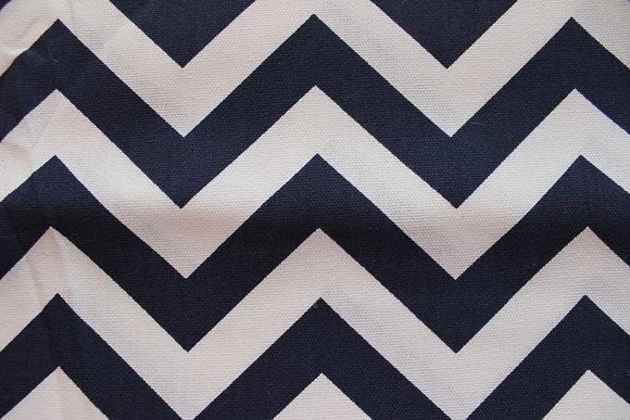 NAVY BLUE/ WHITE CHEVRON