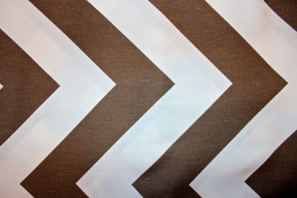 Brown/White Large Chevron