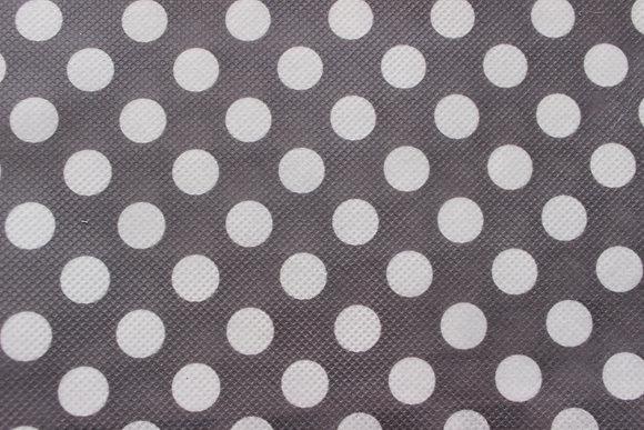 Grey and White Polka Dots