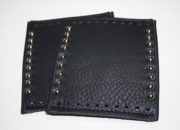 Deluxe Padded Leather Grip Covers Vibration Dampening with Spot Rivets