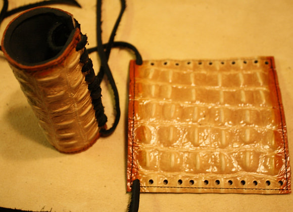 Alligator Embossed Grip Covers with 2 Tone Dye and Lace