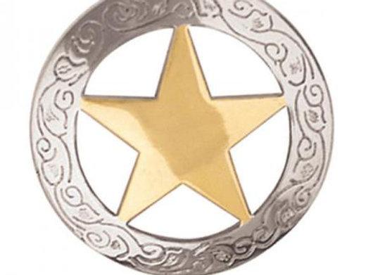 Bridle Rosette Loop Back Texas Star Concho