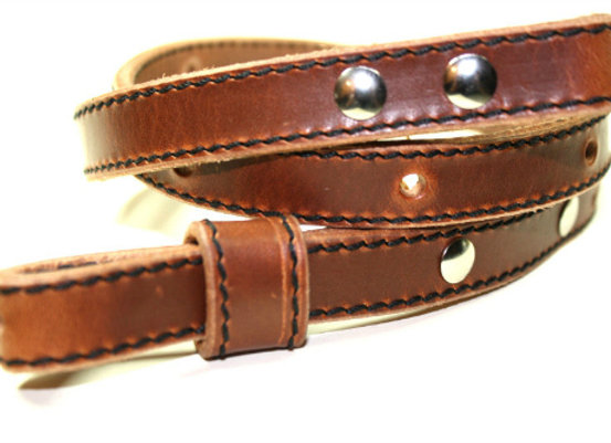 """Leather 3/4"""" Adjustable Rifle Sling Strap with Edge Stitch"""