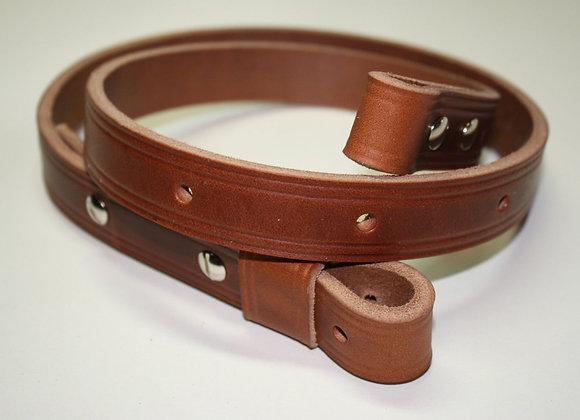 "Leather 3/4"" Adjustable Rifle Sling Equipment Strap"