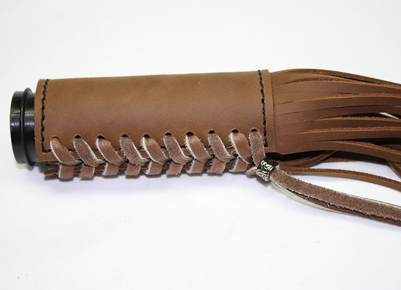 """Padded Leather Grip Cover with 16"""" Fringe"""