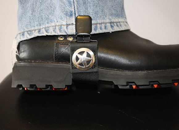 Biker Stirrups with Choice of Concho
