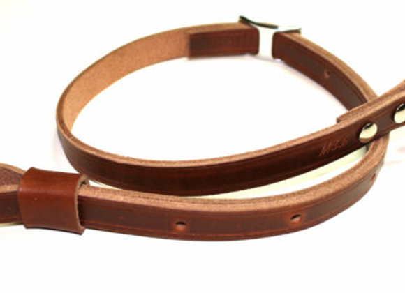 """Leather 3/4"""" Adjustable Rifle Sling Strap with Conway Buckle"""