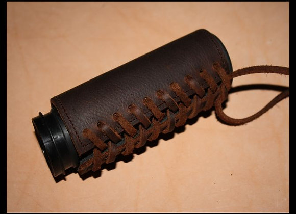 Brown Padded Leather Grip Covers Vibration Dampening