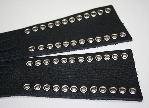 "Leather Clutch Brake Lever Covers Eyelets 16"" Fringe"