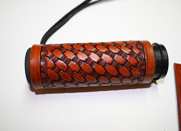 Hand Tooled Basket Weave Grip Covers Western Style Border