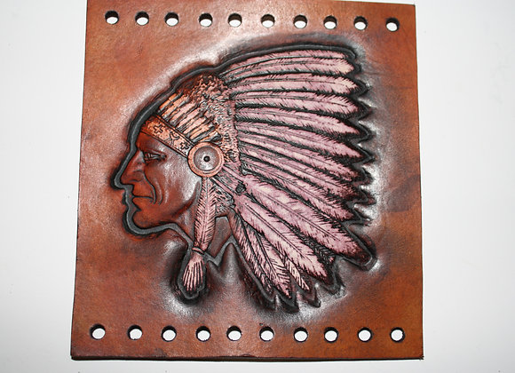 Native American Indian & Head Dress Leather Grip Covers