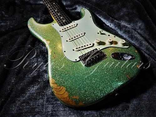 """Used"" Fender Custom Shop 60 Stratocaster Seafoam Sparkle"