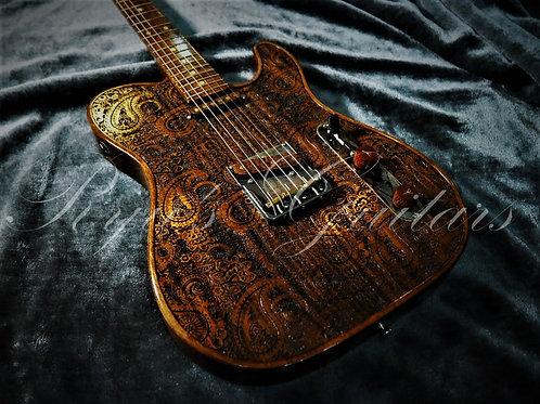 Walla Walla Maverick Vintage Wood Rustic Paisley