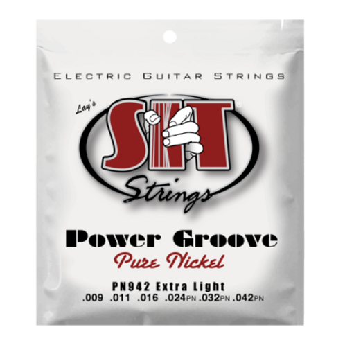 SIT Power Groove Pure Nickel Electric Guitar Strings