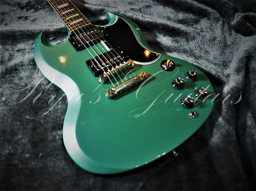 """Used"" Gibson Custom Shop SG Inverness Green 2010"