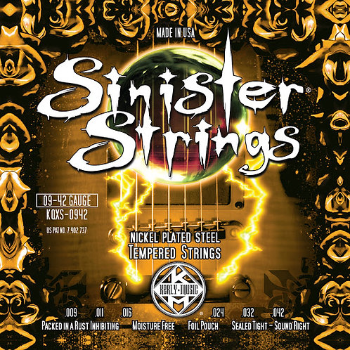 Kerly Music KQXS Sinister Electric Guitar Strings