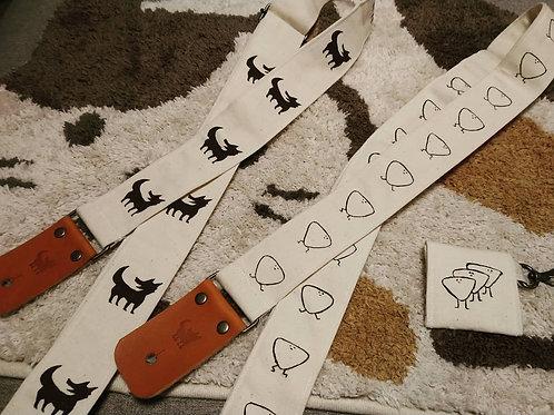 Wolf Sya Handmade Guitar/Ukulele Strap