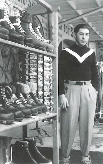 Karl Molitor im Geschäft seines Vate