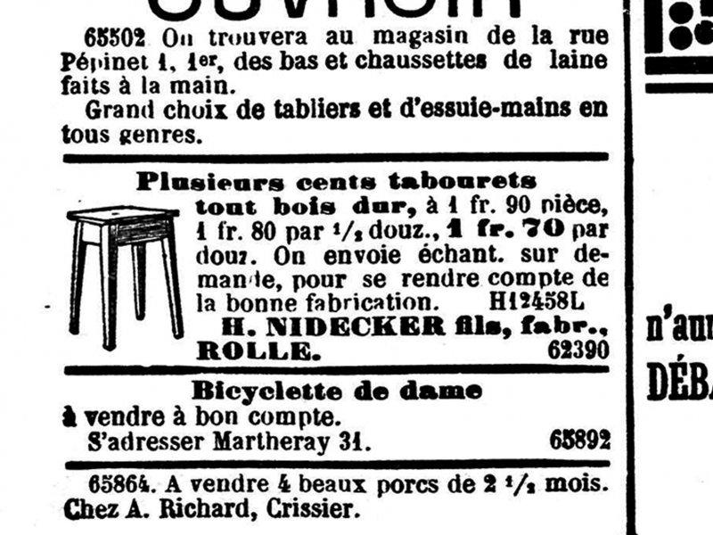 Werbung Anfang der 1900er Jahre