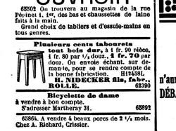 Publicité début années 1900