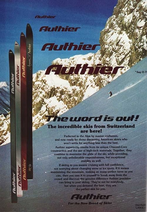 1982 SKI Magazine Advert