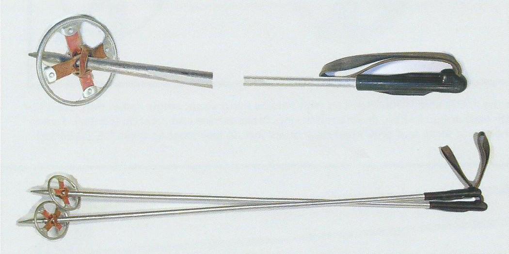 1940er Aluminium Skistöcke