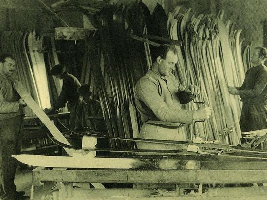 Nidecker Werkstaat ca. 1915