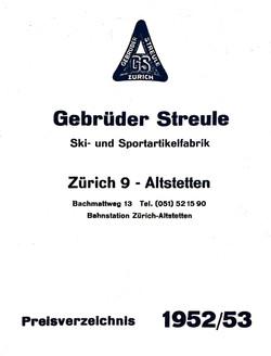 Katalog 1952/53